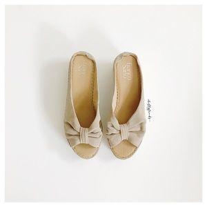Franco Sarto ∙ Peach Wedge Sandals